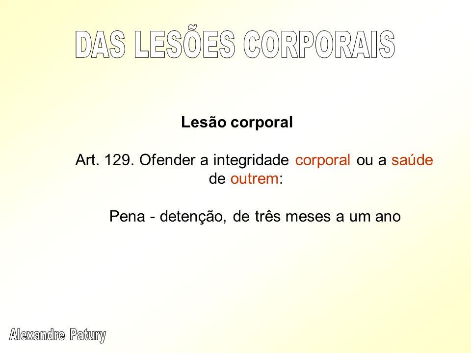 Lesão grave – Art 129, §1º - Art.
