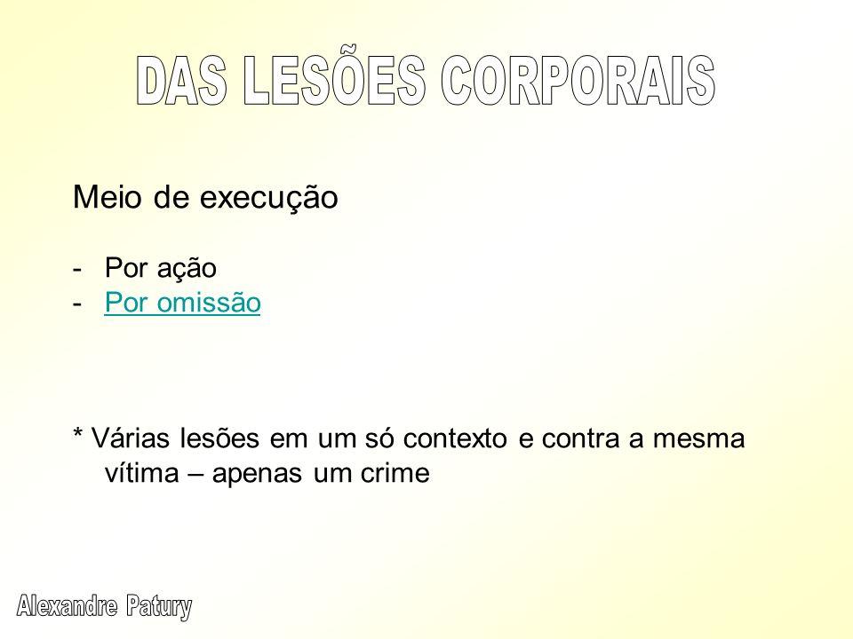 Crime material / tentativa (apenas no dolo) Lesão Corporal x Vias de Fato (art.