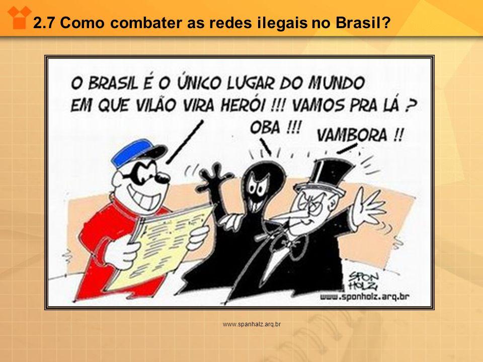2.7 Como combater as redes ilegais no Brasil? www.spanhalz.arq.br