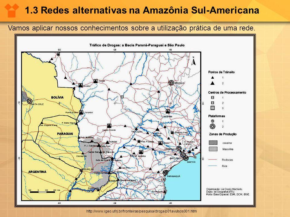1.3 Redes alternativas na Amazônia Sul-Americana Vamos aplicar nossos conhecimentos sobre a utilização prática de uma rede. http://www.igeo.ufrj.br/fr