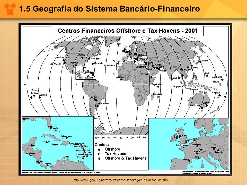 1.5 Geografia do Sistema Bancário-Financeiro http://www.igeo.ufrj.br/fronteiras/pesquisa/droga/p01avulsos001.htm
