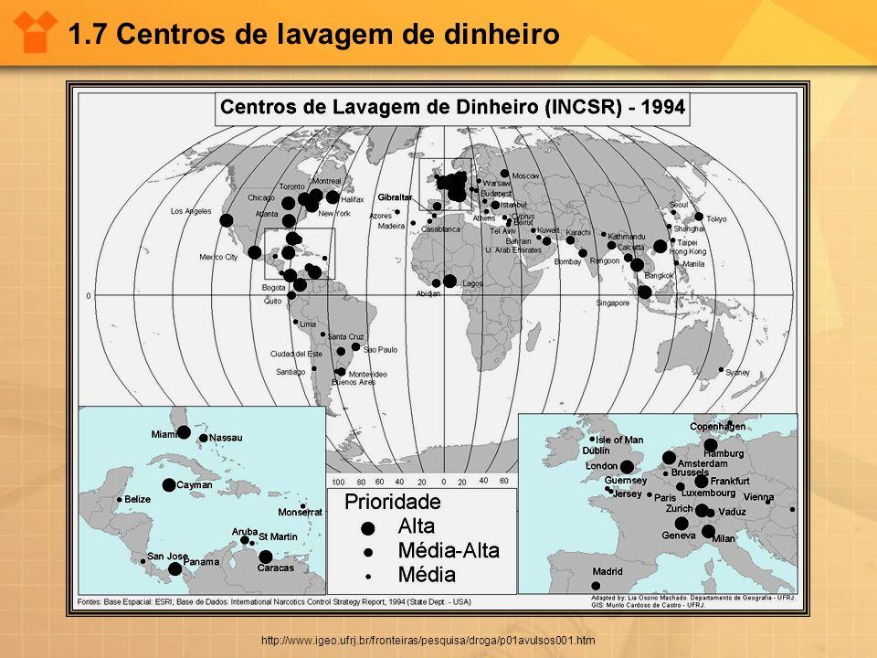 1.7 Centros de lavagem de dinheiro http://www.igeo.ufrj.br/fronteiras/pesquisa/droga/p01avulsos001.htm