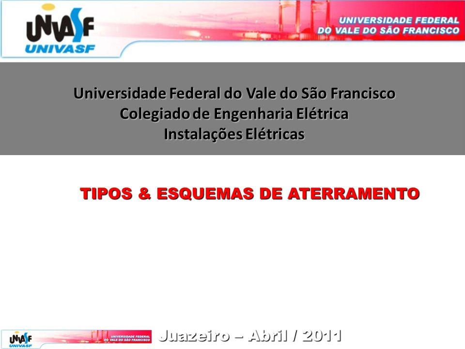 Universidade Federal do Vale do São Francisco Colegiado de Engenharia Elétrica Instalações Elétricas Juazeiro – Abril / 2011 TIPOS & ESQUEMAS DE ATERRAMENTO