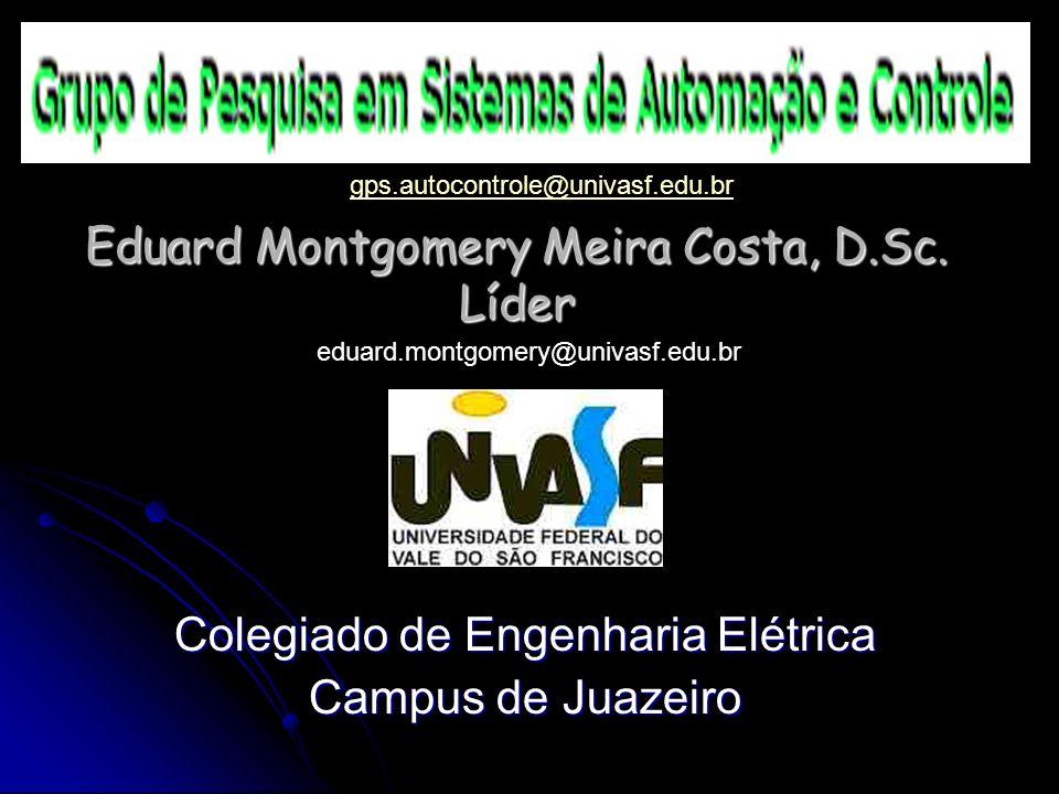 Eduard Montgomery Meira Costa, D.Sc. Líder Colegiado de Engenharia Elétrica Campus de Juazeiro gps.autocontrole@univasf.edu.br eduard.montgomery@univa