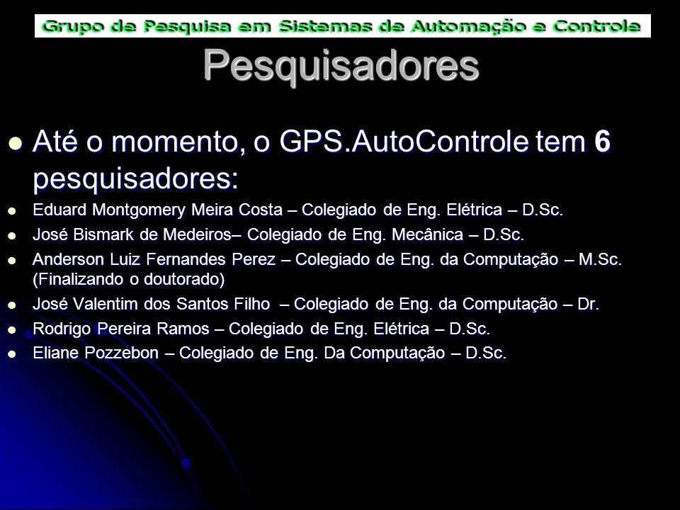 Pesquisadores Até o momento, o GPS.AutoControle tem 6 pesquisadores: Até o momento, o GPS.AutoControle tem 6 pesquisadores: Eduard Montgomery Meira Co