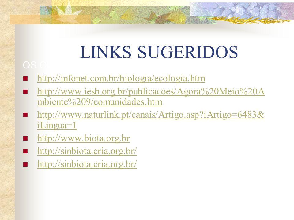 LINKS SUGERIDOS OS CUSTOS DA ATIVIDADE ECONÔMICA. http://infonet.com.br/biologia/ecologia.htm http://www.iesb.org.br/publicacoes/Agora%20Meio%20A mbie