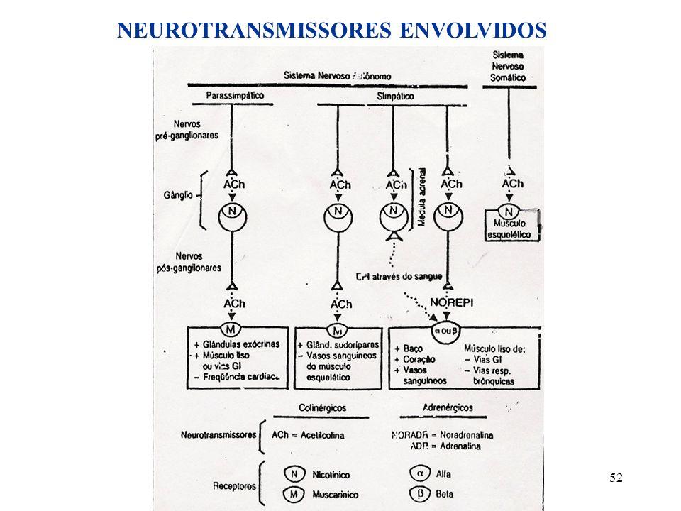 52 NEUROTRANSMISSORES ENVOLVIDOS