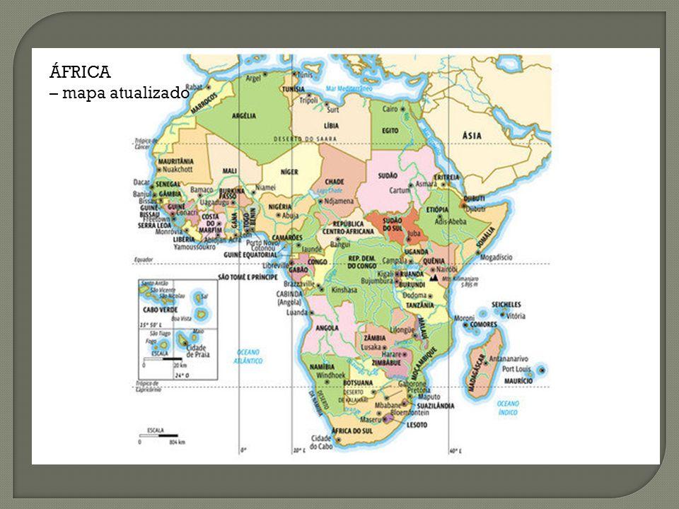ÁFRICA – mapa atualizado
