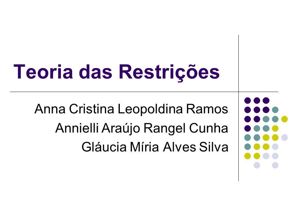 Teoria das Restrições Anna Cristina Leopoldina Ramos Annielli Araújo Rangel Cunha Gláucia Míria Alves Silva