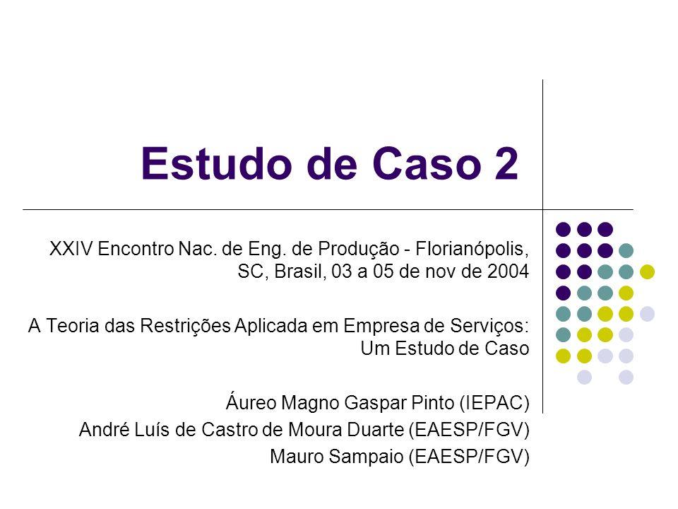 Estudo de Caso 2 XXIV Encontro Nac.de Eng.