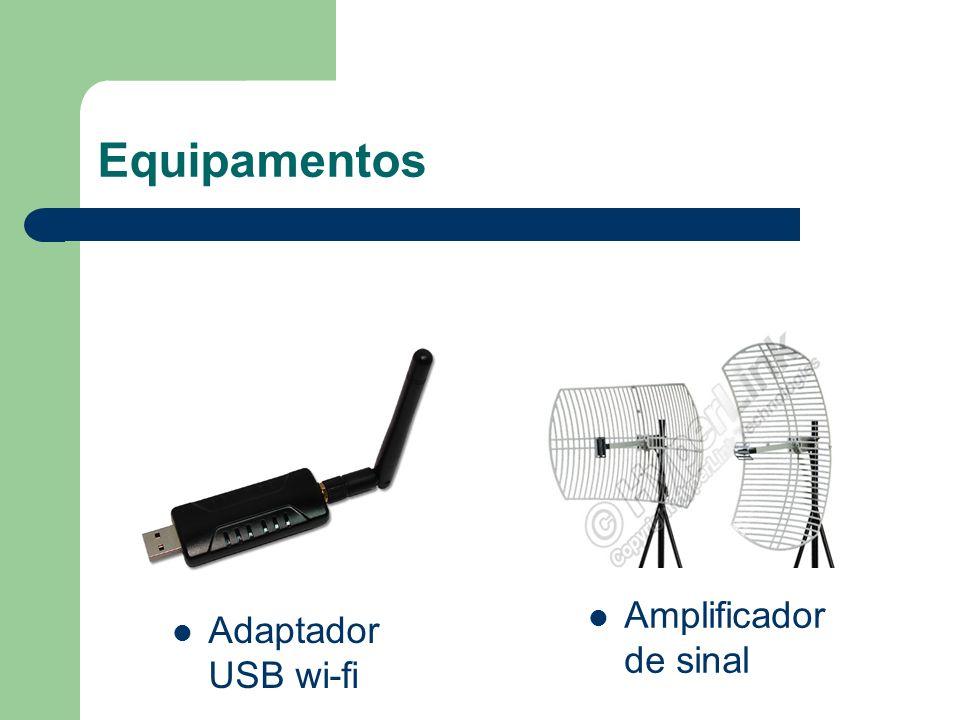Equipamentos Amplificador de sinal Adaptador USB wi-fi