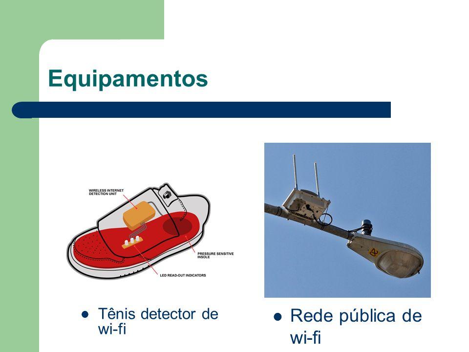 Equipamentos Tênis detector de wi-fi Rede pública de wi-fi