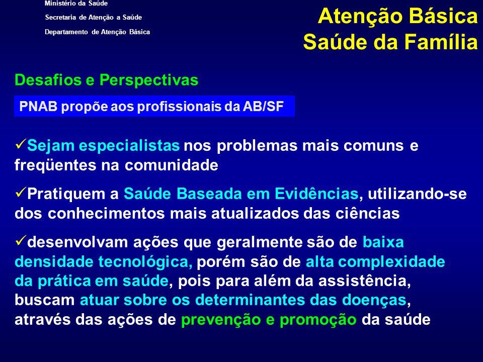 Ministério da Saúde Secretaria de Atenção a Saúde Departamento de Atenção Básica Evolução dos Recursos Financeiros Saúde da Família BRASIL – 2000 - 2006 FONTE: Fundo Nacional de Saúde.