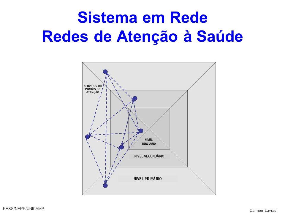 PESS/NEPP/UNICAMP Carmen Lavras Sistema em Rede Redes de Atenção à Saúde