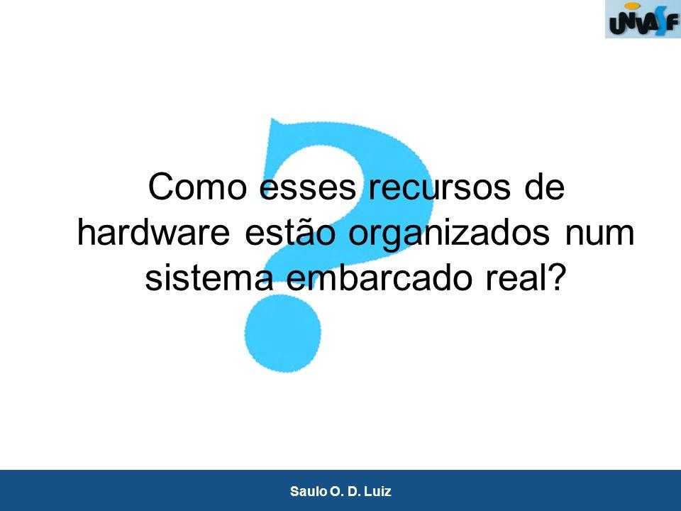 20 Saulo O. D. Luiz Como esses recursos de hardware estão organizados num sistema embarcado real