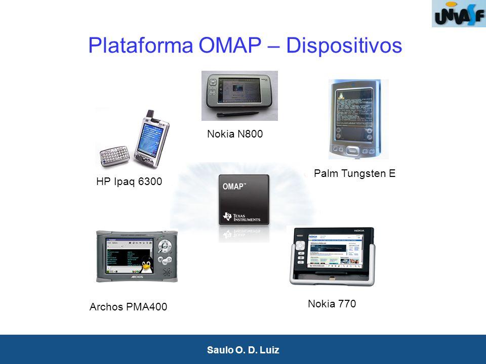23 Saulo O. D. Luiz Plataforma OMAP – Dispositivos Archos PMA400 Nokia 770 HP Ipaq 6300 Palm Tungsten E Nokia N800