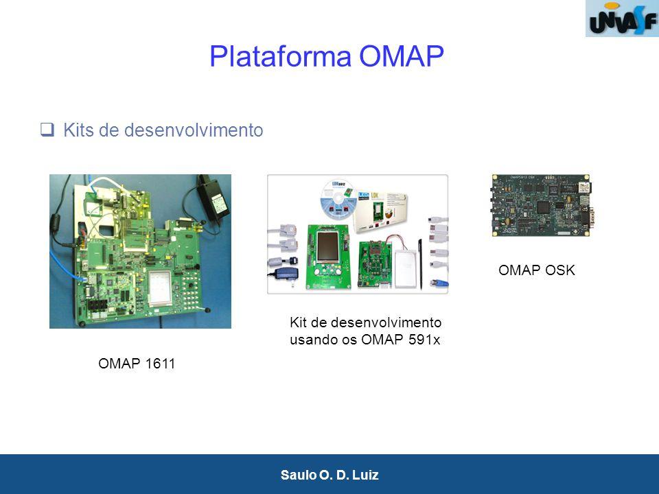 24 Saulo O. D. Luiz Plataforma OMAP Kits de desenvolvimento OMAP OSK OMAP 1611 Kit de desenvolvimento usando os OMAP 591x
