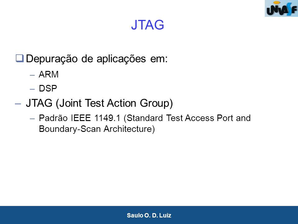 31 Saulo O. D. Luiz Depuração de aplicações em: –ARM –DSP –JTAG (Joint Test Action Group) –Padrão IEEE 1149.1 (Standard Test Access Port and Boundary-