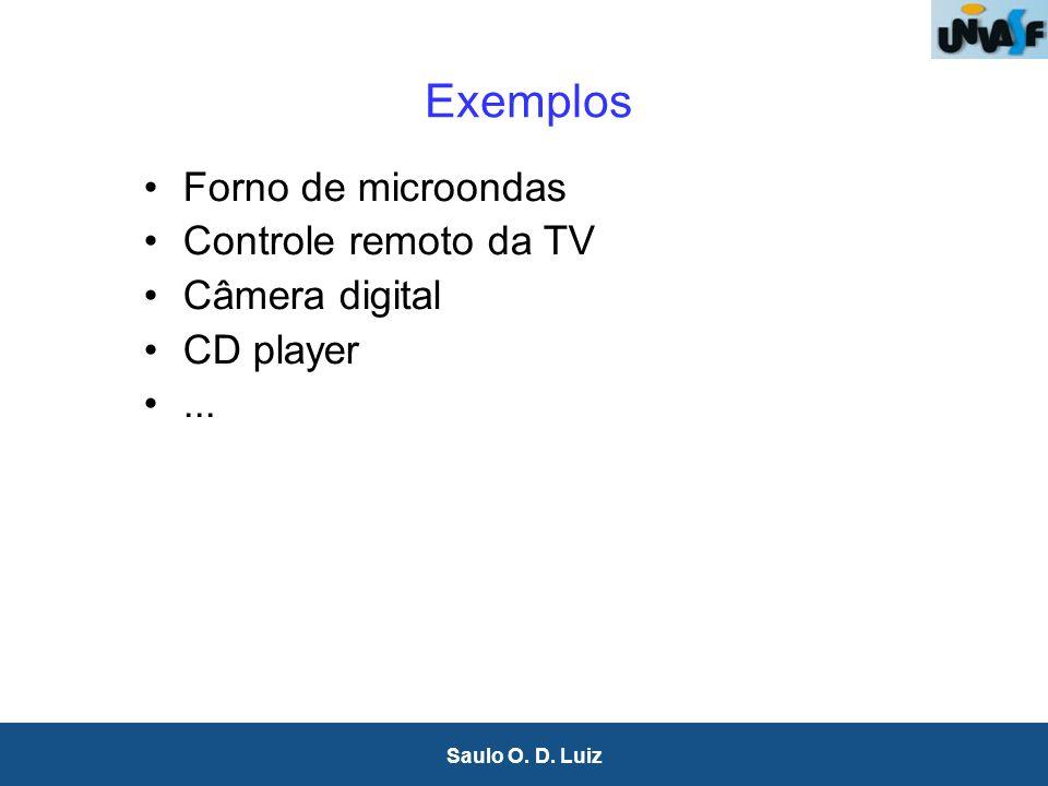 7 Saulo O. D. Luiz Exemplos Forno de microondas Controle remoto da TV Câmera digital CD player...