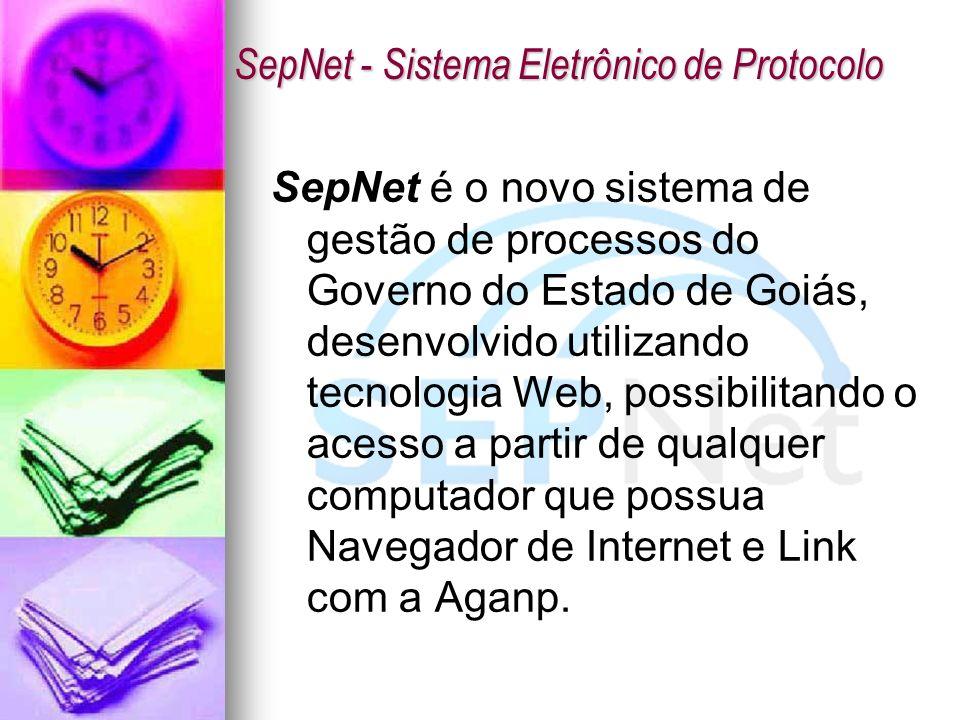 SepNet é o novo sistema de gestão de processos do Governo do Estado de Goiás, desenvolvido utilizando tecnologia Web, possibilitando o acesso a partir