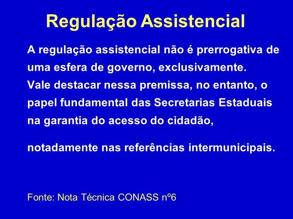 A regulação assistencial não é prerrogativa de uma esfera de governo, exclusivamente.
