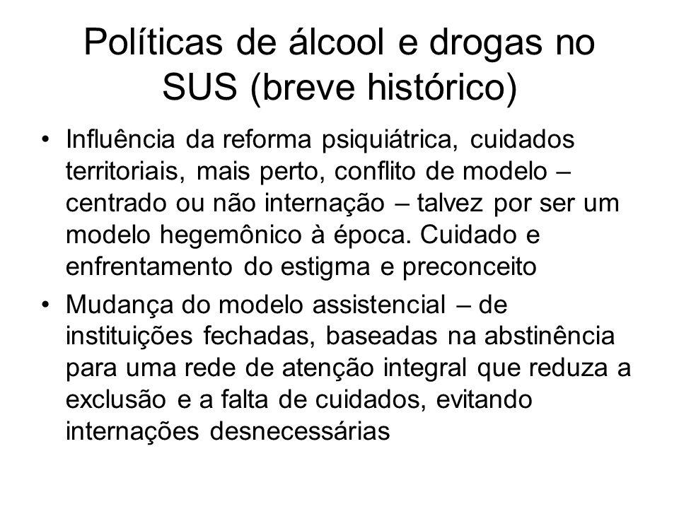 COMPLEXIDADE DO PROBLEMA DA DROGA EXIGE RESPOSTAS COMPLEXAS E ARTICULADAS.