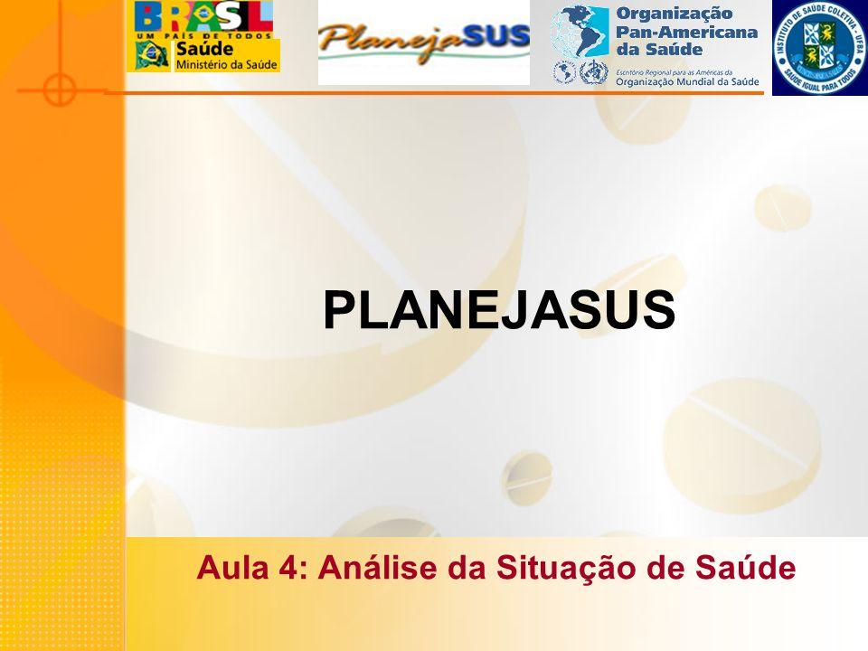 PLANEJASUS Aula 4: Análise da Situação de Saúde