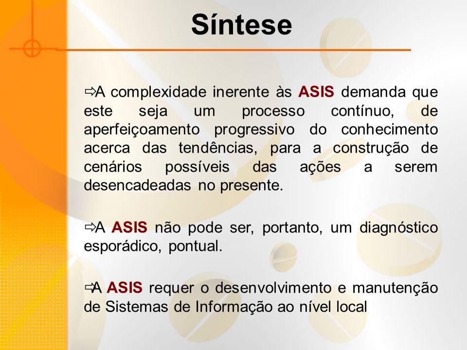 A complexidade inerente às ASIS demanda que este seja um processo contínuo, de aperfeiçoamento progressivo do conhecimento acerca das tendências, para