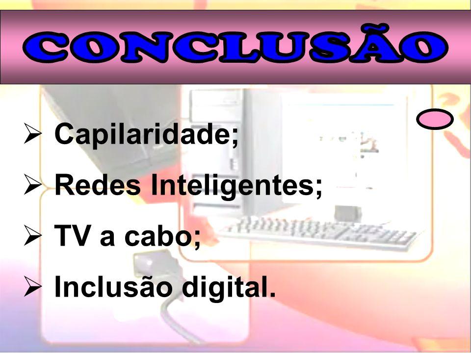 Capilaridade; Redes Inteligentes; TV a cabo; Inclusão digital.