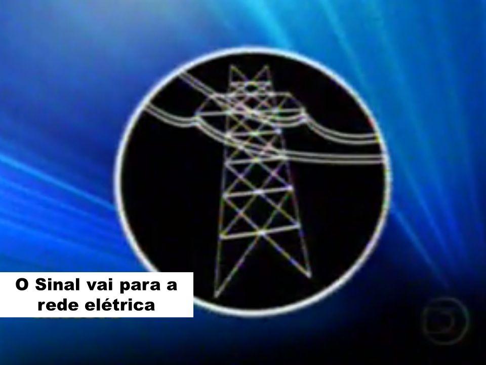 O Sinal vai para a rede elétrica