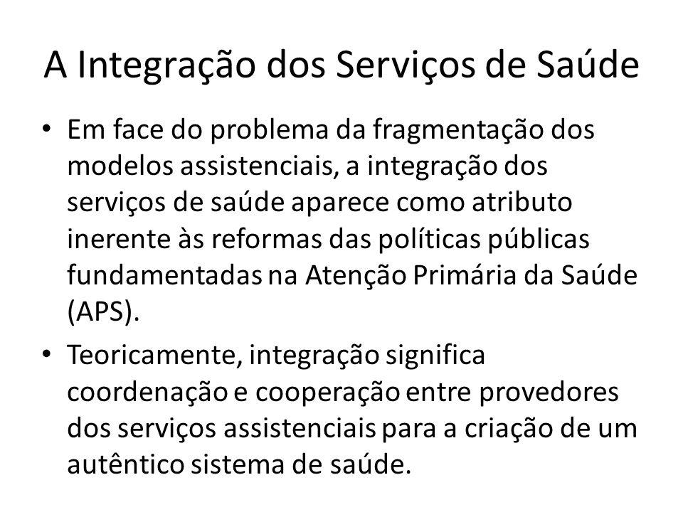 A Integração dos Serviços de Saúde Em face do problema da fragmentação dos modelos assistenciais, a integração dos serviços de saúde aparece como atri