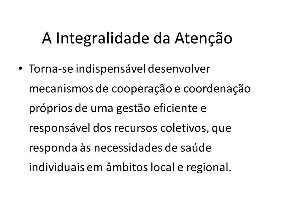 A integração de sistemas de saúde Nas diversas reformas dos sistemas de saúde, a descentralização e a regionalização, mediante a integração dos serviços de saúde em redes assistenciais, têm sido ativamente estimuladas.