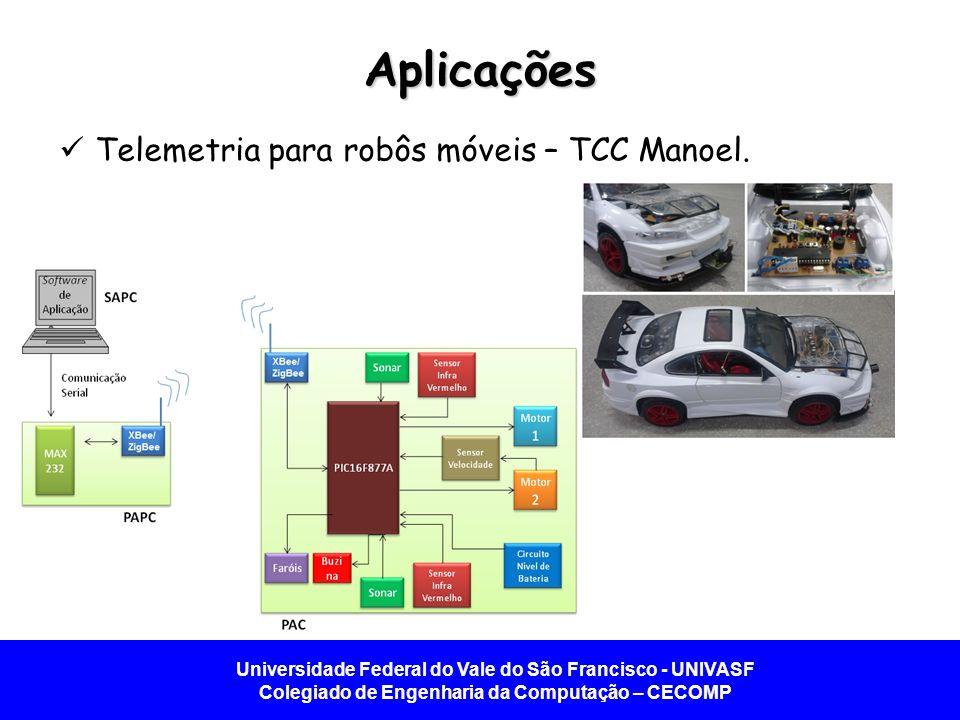 Universidade Federal do Vale do São Francisco - UNIVASF Colegiado de Engenharia da Computação – CECOMP Aplicações Telemetria para robôs móveis – TCC M
