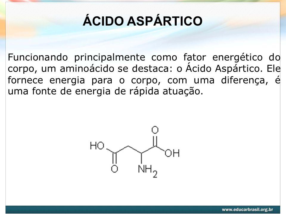 Funcionando principalmente como fator energético do corpo, um aminoácido se destaca: o Ácido Aspártico. Ele fornece energia para o corpo, com uma dife
