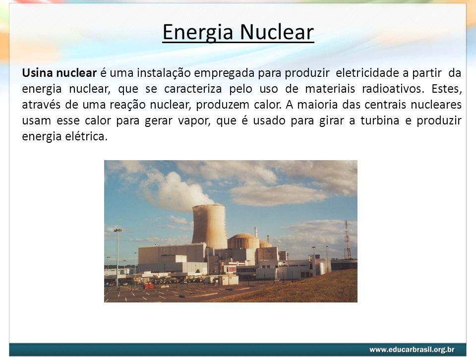 Usina nuclear é uma instalação empregada para produzir eletricidade a partir da energia nuclear, que se caracteriza pelo uso de materiais radioativos.