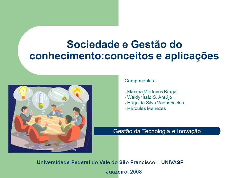 Globalização Sociedade e Gestão do conhecimento:conceitos e aplicações * Com o surgimento destas discussões a cerca do tema sociedade da informação, grande aumento nos meios de comunicação.