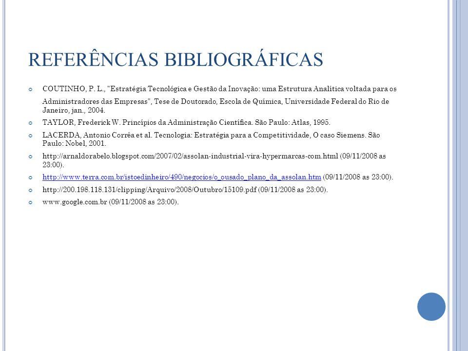 REFERÊNCIAS BIBLIOGRÁFICAS COUTINHO, P. L.,