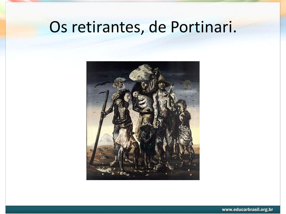 Os retirantes, de Portinari.