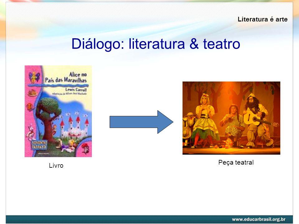 Literatura é arte Diálogo: literatura & teatro Livro Peça teatral