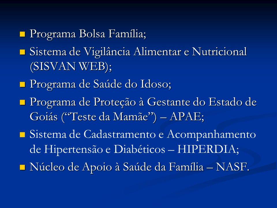 Programa Bolsa Família; Programa Bolsa Família; Sistema de Vigilância Alimentar e Nutricional (SISVAN WEB); Sistema de Vigilância Alimentar e Nutricio