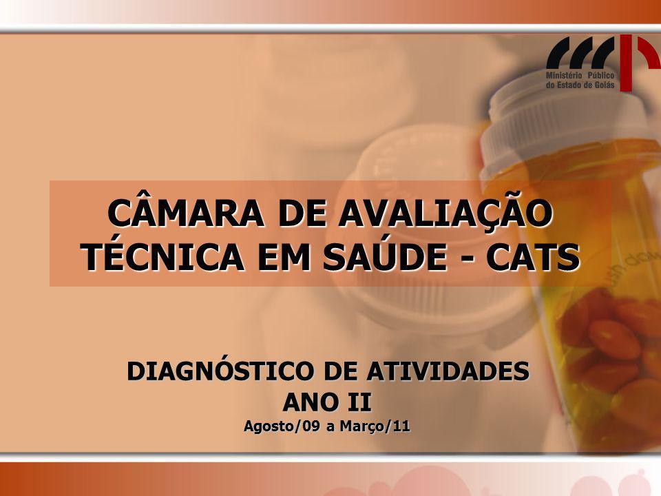 CÂMARA DE AVALIAÇÃO TÉCNICA EM SAÚDE - CATS DIAGNÓSTICO DE ATIVIDADES ANO II Agosto/09 a Março/11