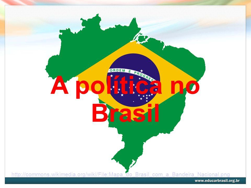 A política no Brasil http://commons.wikimedia.org/wiki/File:Mapa_do_Brasil_com_a_Bandeira_Nacional.png