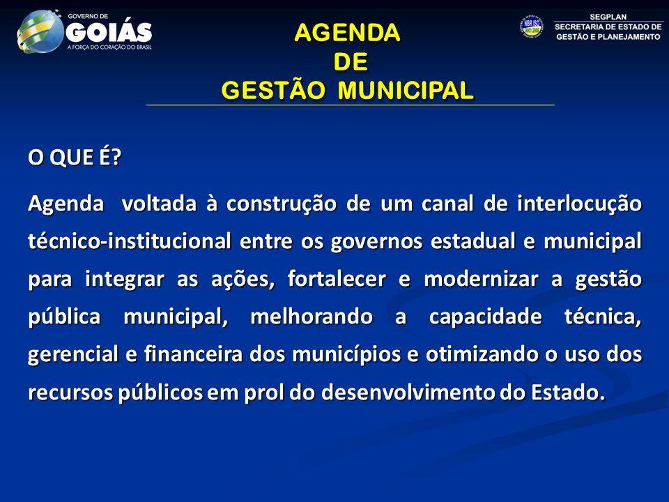 AGENDA DE DE GESTÃO MUNICIPAL AGENDA DE DE GESTÃO MUNICIPAL O QUE É.