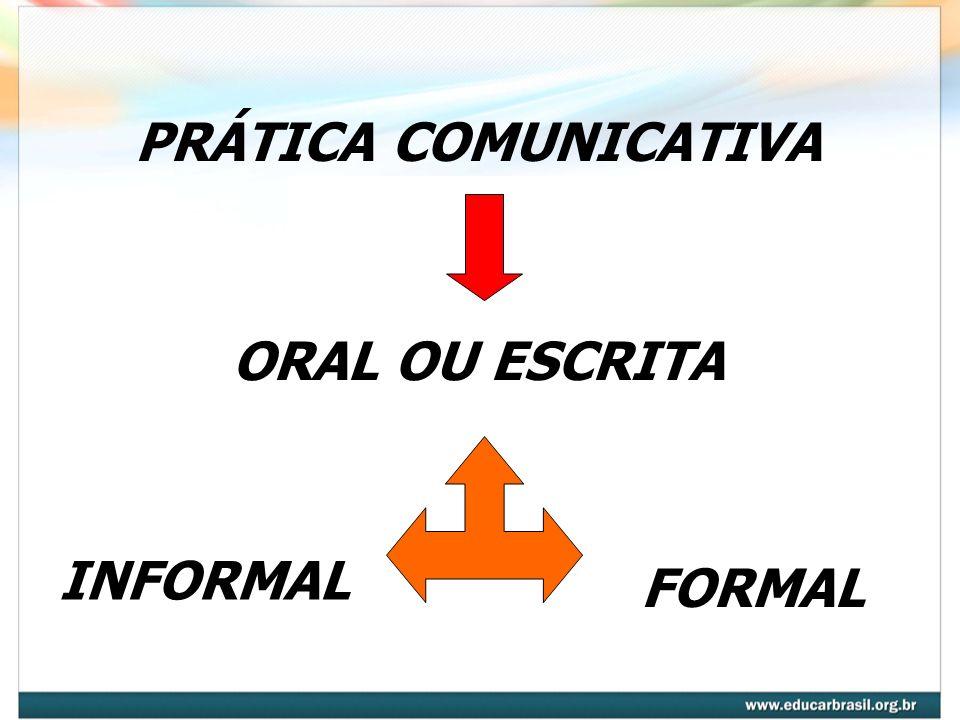 ORAL OU ESCRITA INFORMAL FORMAL