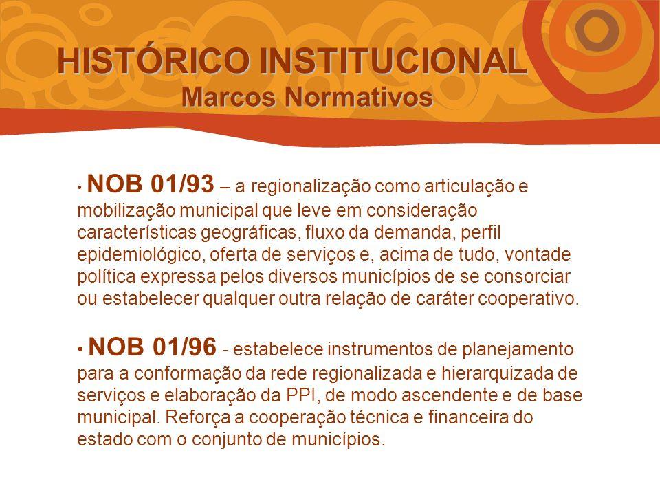 NOAS 01/01 – estabelece estratégias de planejamento para a constituição de redes regionais de saúde, com o objetivo de promover maior eqüidade na alocação de recursos e no acesso da população às ações e serviços de saúde.