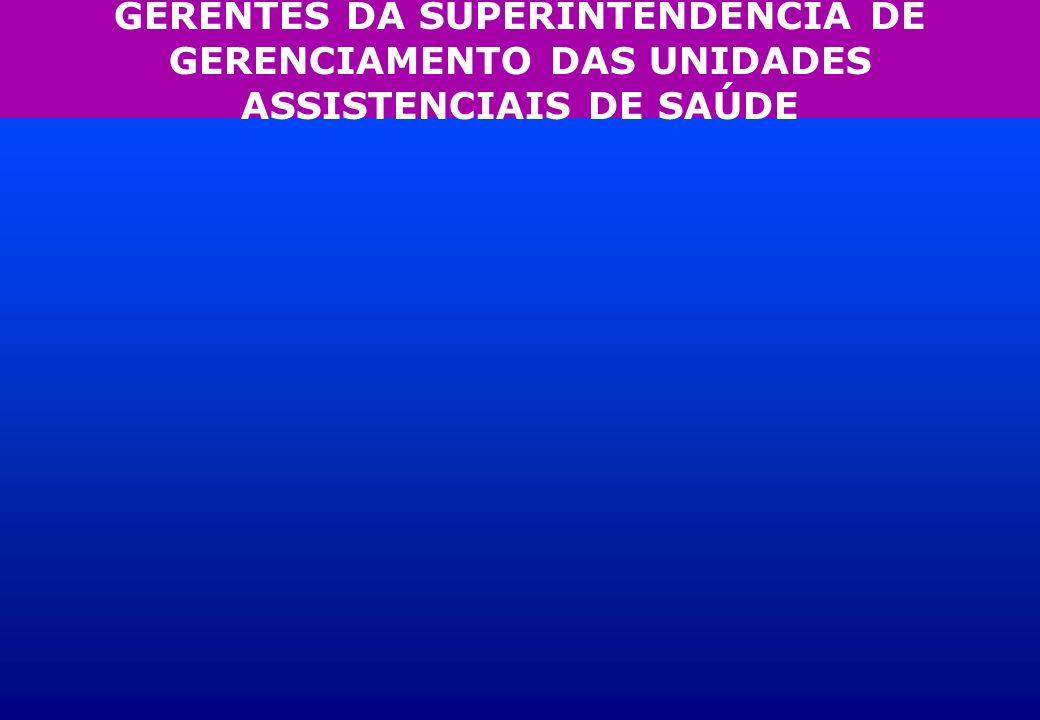 GERENTES DA SUPERINTENDÊNCIA DE GERENCIAMENTO DAS UNIDADES ASSISTENCIAIS DE SAÚDE
