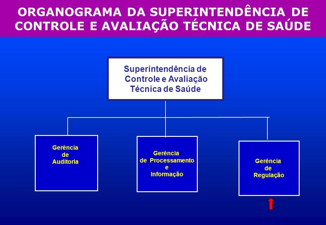 Gerência de Auditoria Gerência de Processamento e Informação Gerência de Processamento e Informação Superintendência de Controle e Avaliação Técnica d