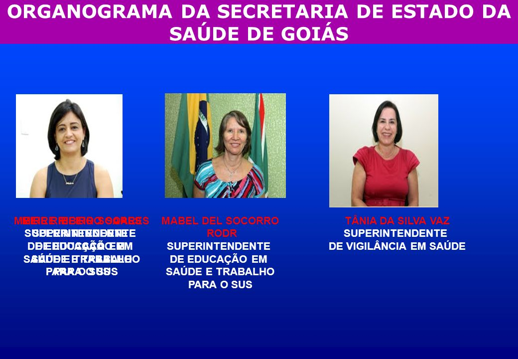 GERENTES DA SUPERINTENDÊNCIA DE VIGILÂNCIA EM SAÚDE