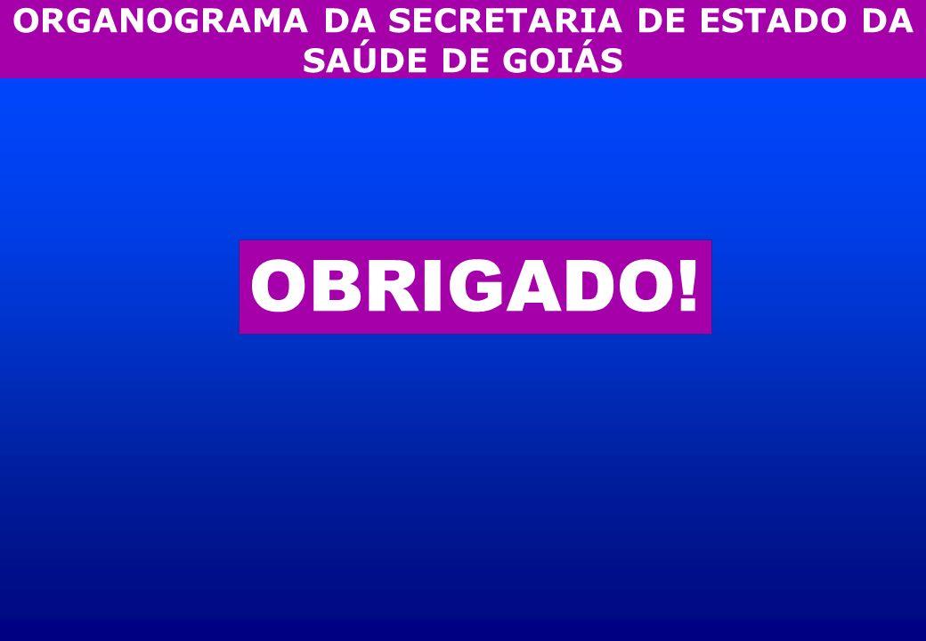 ORGANOGRAMA DA SECRETARIA DE ESTADO DA SAÚDE DE GOIÁS OBRIGADO!
