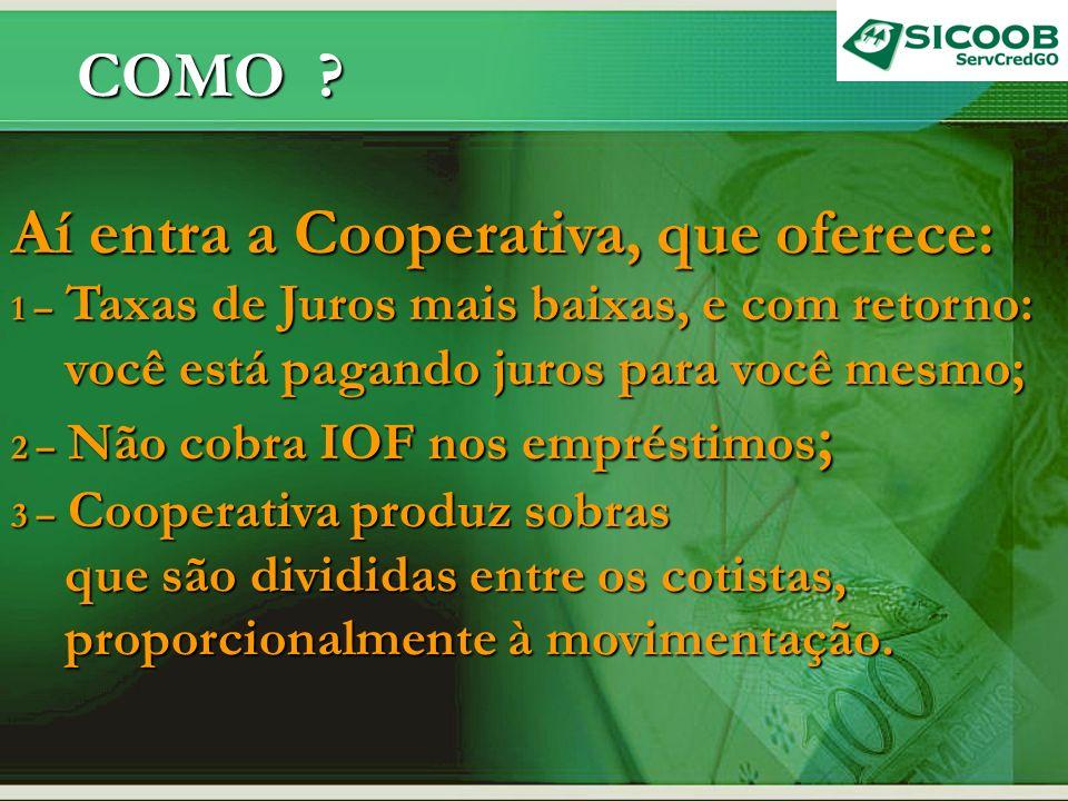 COMO .COMO . 4 – Você participa da gestão com direito a votar e a ser votado.